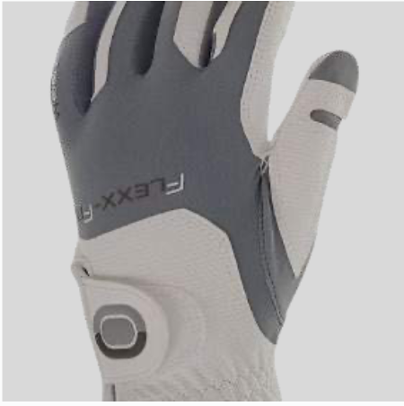 ZOOM WEATHER WHITE+SILVER LEATHER GOLF GLOVE