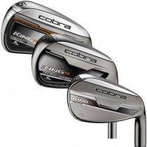NEW COBRA GOLF CLUBS MENS R/H KING F6  IRON SET 6-PW STEEL REGULAR