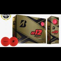 Bridgestone e12 Soft Golf Balls Matte Red Dozen