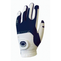 ZOOM WEATHER WHITE+NAVY LEATHER GOLF GLOVE