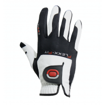 ZOOM TOUR WHITE+BLACK+RED LEATHER GOLF GLOVE