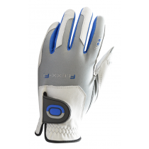 ZOOM TOUR WHITE+SILVER+BLUE LEATHER GOLF GLOVE