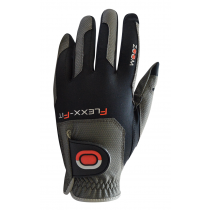 ZOOM WEATHER CHARCOAL+BLACK+RED LEATHER GOLF GLOVE