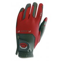 ZOOM WEATHER CHARCOAL+RED LEATHER GOLF GLOVE