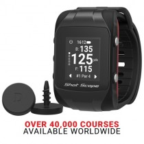 "SHOT SCOPE V2 SMART GPS WATCH ""WORLD'S SMARTEST GOLF WATCH "" BLACK NEW"
