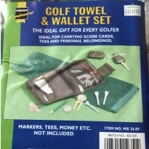 GOLF TOWEL AND WALLET SET