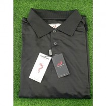 WOODWORM GOLF PERFORMANCE S/S POLO SHIRT BLACK XL NEW