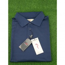 WOODWORM GOLF PERFORMANCE S/S POLO SHIRT NAVY LARGE NEW